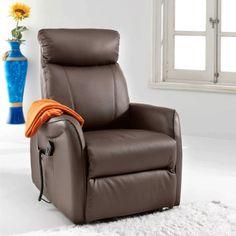 Sillón relax Mister Polipiel, color marrón · 461€