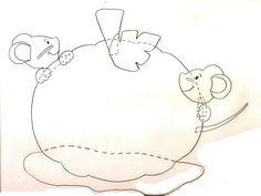 Gabarit - Petites souris jouent à cache-cache