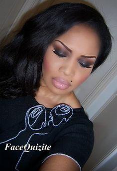 wedding makeup ... African American women look so stunning in pink ...