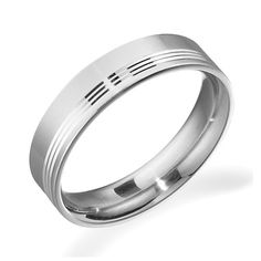 Men's Palladium Wedding Ring WCC0120 from Beaverbrooks the Jewellers