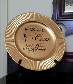 Decorative Christmas Plate by DesignsByCoCo1 on Etsy,
