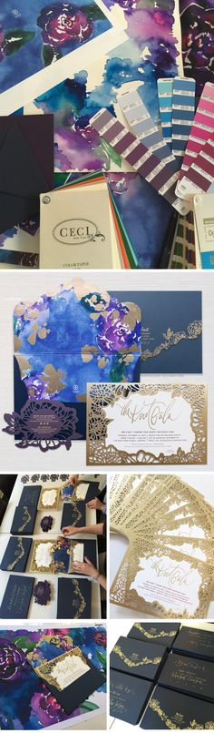 The Knot Gala - The Knot Industry Gala - the knot gala, the knot, gala invitation, ceci new york, laser-cut, foil stamping, die cut, luxury, couture, watercolor, ceci johnson