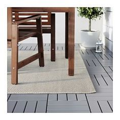 "IKEA - MORUM, Rug, flatwoven, beige, 5 ' 3 ""x7 ' 7 "", , Ideal in your living room or under your dining table since the flat-woven surface makes it easy to pull out the chairs and vacuum.The rug is perfect for outdoor use since it is made to withstand rain, sun, snow and dirt."