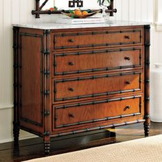 Find luxury bedroom furniture at Williams-Sonoma Home. Fill your room with timeless furniture, and shop chic beds, dressers, and nightstands. West Indies Decor, West Indies Style, British West Indies, East Indies, British Colonial Bedroom, British Colonial Style, British Bedroom, Colonial Furniture, 4 Drawer Dresser