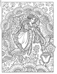 People Coloring Pages, Free Adult Coloring Pages, Coloring Book Pages, Coloring Sheets, Cute Drawings, Stencils, Doodles, Embroidery, Black And White