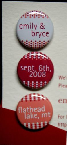 save the date magnets!