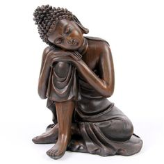 Buddha Head Resting on Knee - Buddhist Statue Ornament - Height 5055071613371 Buddha Peace, Buddha Art, Buddha Statues, Most Beautiful Butterfly, Buddha Figures, Buddhist Meditation, Gautama Buddha, Yoga At Home, Krishna Art