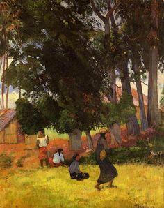 Paul Gauguin Tahitian village, 1892