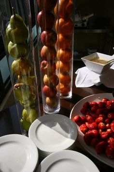 Fresh fruit always available at our breakfast buffet