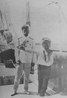 Alexei with his father, Nicholas II
