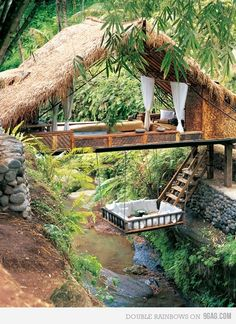 Coolest tree house ever! A week and lots of books is all you would need :)
