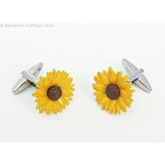 Women's Cufflinks (but not just for women!) - Sunflower Cufflinks
