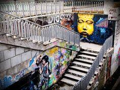 Stair Art, Romania, Street Art, Fair Grounds, Stairs, Artist, Stairway, Artists, Staircases