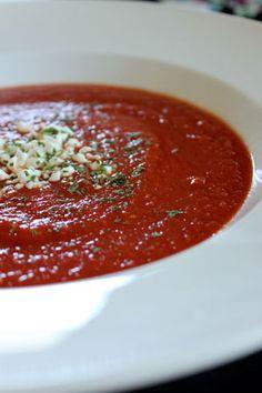 Homemade Garden Tomato Soup at 100 calories a serving
