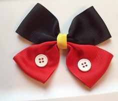 Mickey Mouse Hair Bow on Etsy