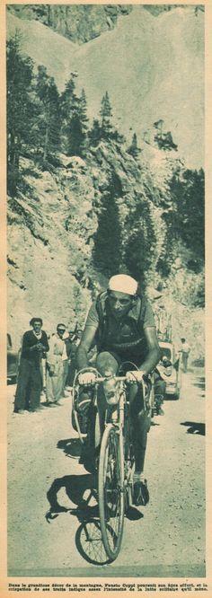 Tour de France 1951. 20^Tappa, 25 luglio. Gap > Briançon. Col d'Izoard. Fausto Coppi (1919-1960) [But et CLUB]
