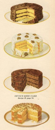 Illustrations of cakes