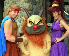Herc, Phil and Meg...maybe meet them. I know some of these are only at certain parks...but a girl can dream!