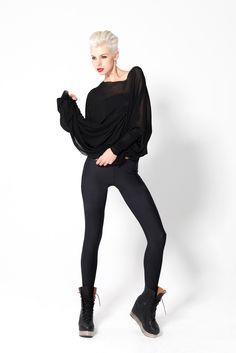 Matte Black leggings by Black Milk