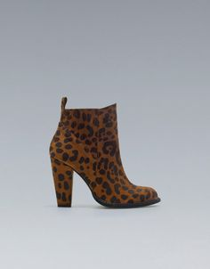 32aa744acdbd LEOPARD PRINT HIGH-HEEL ANKLE BOOTS - Shoes - Woman - ZARA United States  Leopard