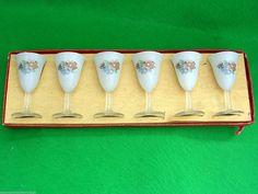 Vintage Retro 50's 60's Delicate Set 6 Etched Sherry Liqueur Glasses Beautiful! | eBay
