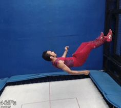 Some Trampoline Magic Don't forget to share us to your... #Gif #Gifs #Funnygif