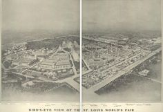 Bird's Eye View of St. Louis World's Fair, 1904.