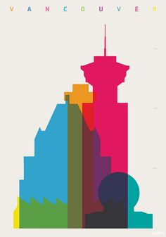 Shapes of Vancouver art print on Etsy, $51.06