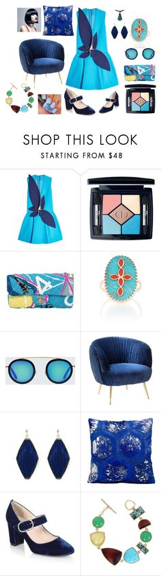 """""""Untitled #2276"""" by moestesoh ❤ liked on Polyvore featuring Delpozo, Christian Dior, Chanel, Pascale Monvoisin, Krewe, Nourison, SJP and Kenneth Cole"""