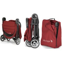The City Tour stroller folds small for big adventures. At only 14 lbs., it folds down small and meets carry-on requirements for many modes of transportation. A