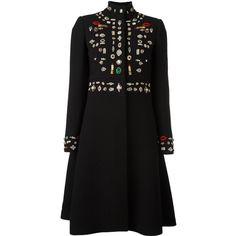 Alexander McQueen 'Obsession' oversized coat (€7.350) ❤ liked on Polyvore featuring outerwear, coats, black, funnel-neck coats, alexander mcqueen coat, funnel neck coat, long sleeve coat and alexander mcqueen