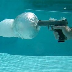 This is what a gun fired underwater looks like