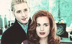 Twilight-Carlisle and Esme when Bella first comes to the Cullen house :)
