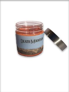 Awesome Home made Soy wax candles with Video Game themes. This one is Death Mountain, inspired by The Legend Of Zelda's Ocarina Of Time. ScentedSparks.etsy.com