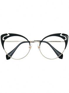 a039b84d256e8 Miu Miu Eyewear cut-out cat eye glasses  MiuMiu