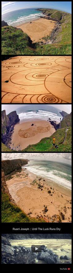 #TonyPlant #art #sand #beach #England #SwirlingCanvases