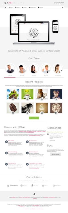 JSN Air, Joomla Responsive Business Portfolio Template