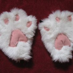 How to Make Cute Kitty Paw Mittens  Halloween ideas  I am going to modify this and make Cheetah Paws for V's Costume