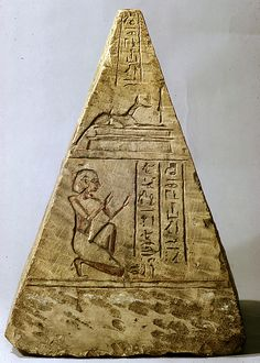 Pyramidion, Iuf, 525–332 B.C. Egypt. The Metropolitan Museum of Art, New York. Rogers Fund, 1921 (21.2.66)