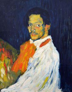 Pablo Picasso - Self Portrait (Yo Picasso), 1901 at Kunsthaus Zürich - Zurich Switzerland