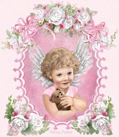 Penny Parker ✿⊹ Little angel Penny Parker, Angels In Heaven, Heavenly Angels, I Believe In Angels, Printable Pictures, Angel Art, Cute Images, Fantasy, Altered Art