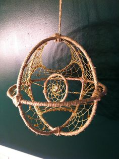 Large 3dimensional Hemp Beaded Dream Catcher by nightlifeaccents, $40.00