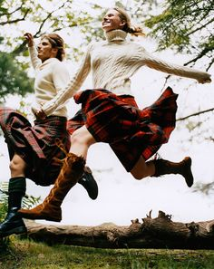 Keep a traditional kilt less serious with moccasins. Photo by Anne Menke.