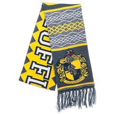 Harry Potter Harry Potter Hufflepuff Scarf ($19) ❤ liked on Polyvore featuring accessories and scarves