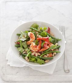 Prawn and Bean Salad with Chilli and Lime Dressing recipe, brought to you by MiNDFOOD and Weight Watchers.