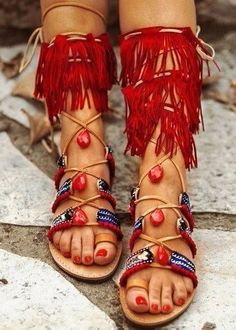 132baa7cb8d62e Sandals Summer Gladiator Bohemian Chic Sandals