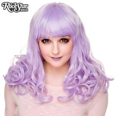 RockStar Wigs® <br> Bang Bang™ Collection - Lavender - 00036 #lavenderhair #purplehair #colorfulhair #wig #kawaiiwig