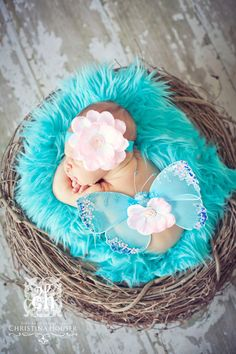 Cotton Candy Sweet Pink and Bright Blue Sequin by TheCoutureBaby, $19.99