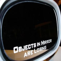 AS*HOLES IN MIRROR Funny 2-PC Side Mirror Car Decal Sticker Objects JDM Tuner