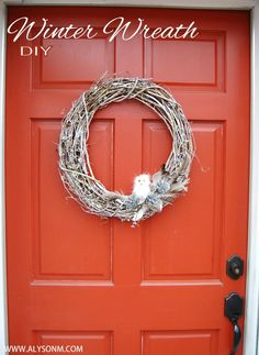 Winter Owl Wreath : {Christmas and Winter Decor Idea}